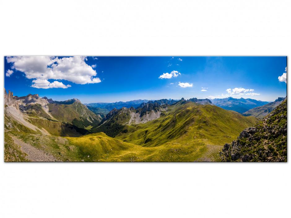 Tableau Aluminium panoramique La Vallée d'Ansabère