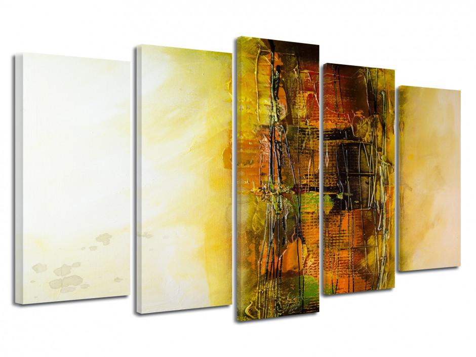 Tableau abstrait toile imprimée peinture effect