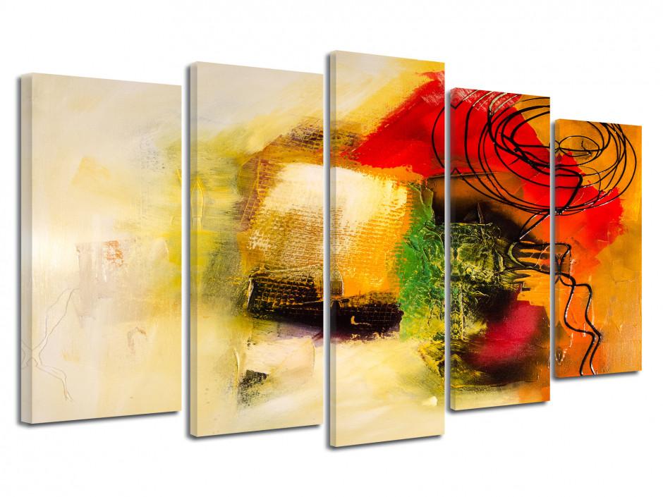 Tableau déco toile Abstraite design peinture