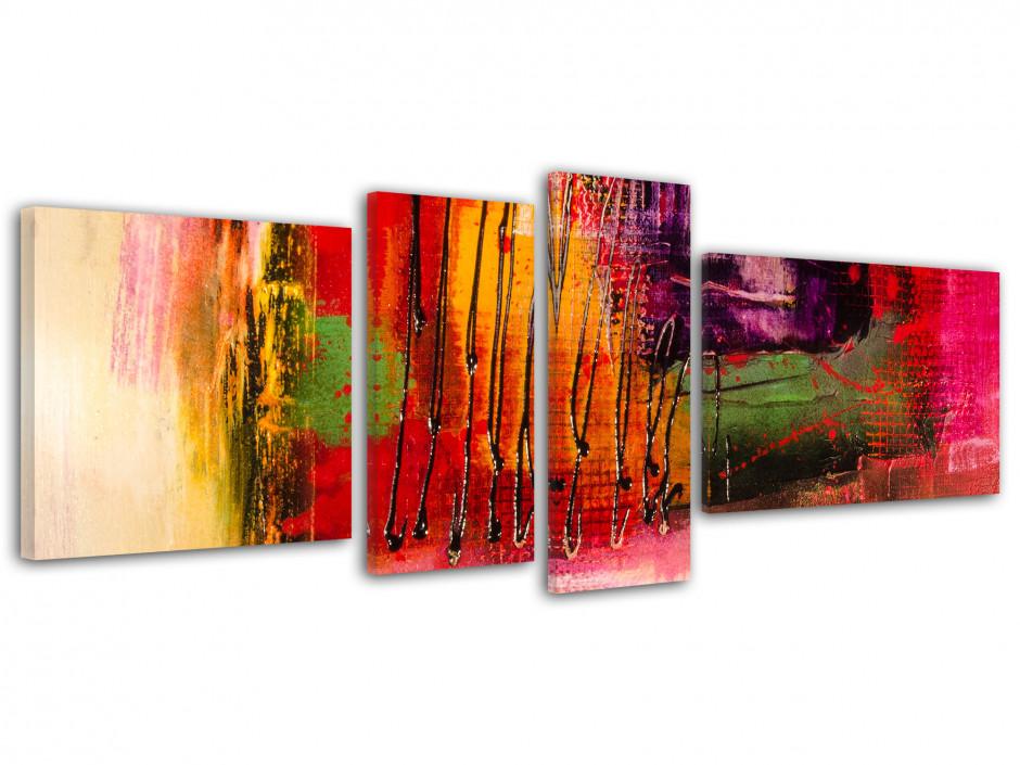 Tableau toile imprimée peinture abstraite