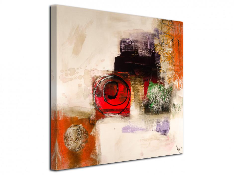 Tableau carré toile imprimée Abstrait