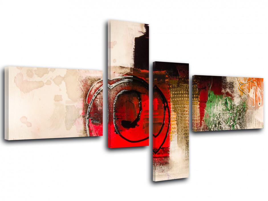Tableau abstrait multipanneaux