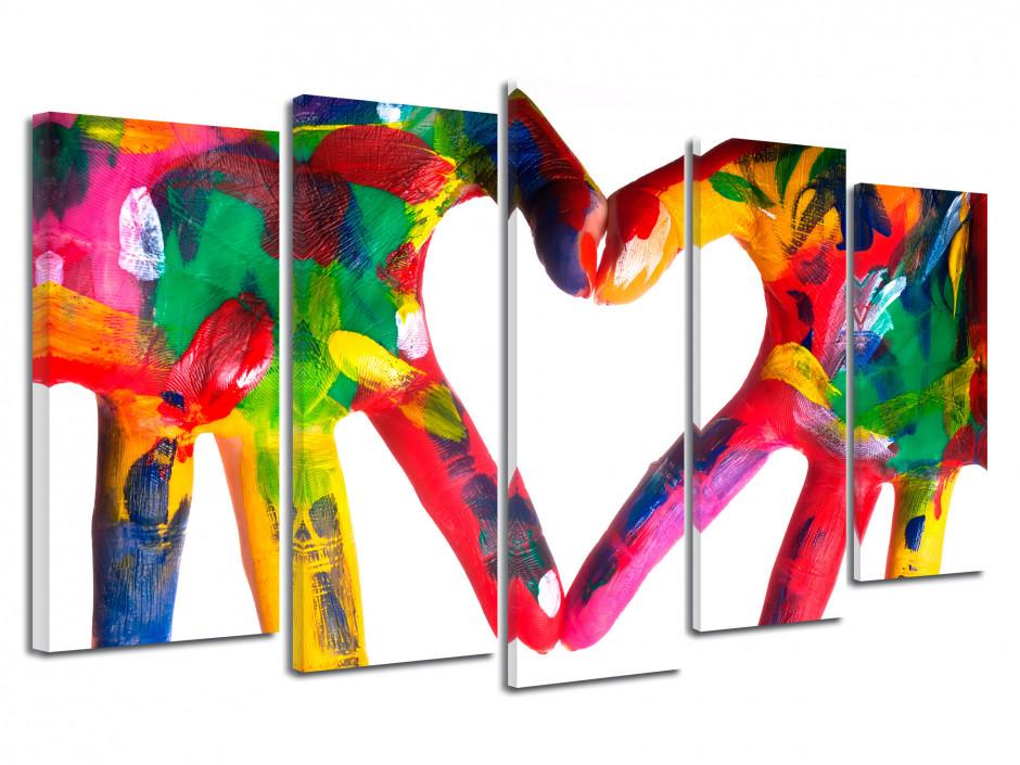 Tableau moderne Mains de Peinture