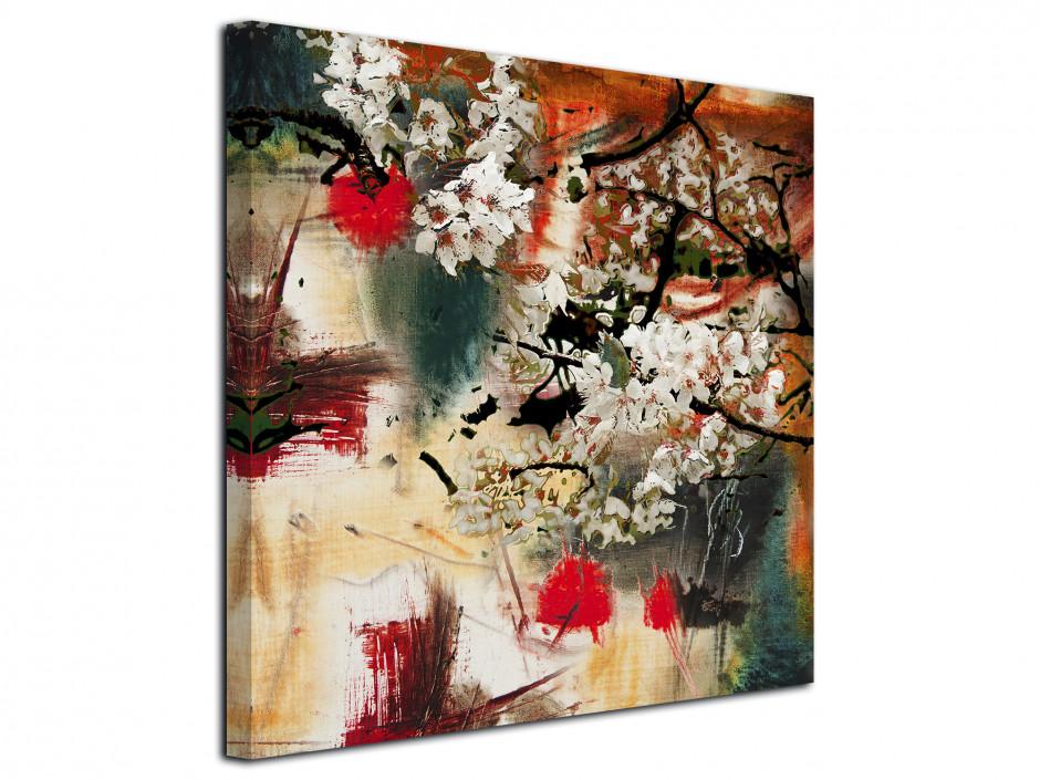 Tableau toile déco peinture Abstraite Flower