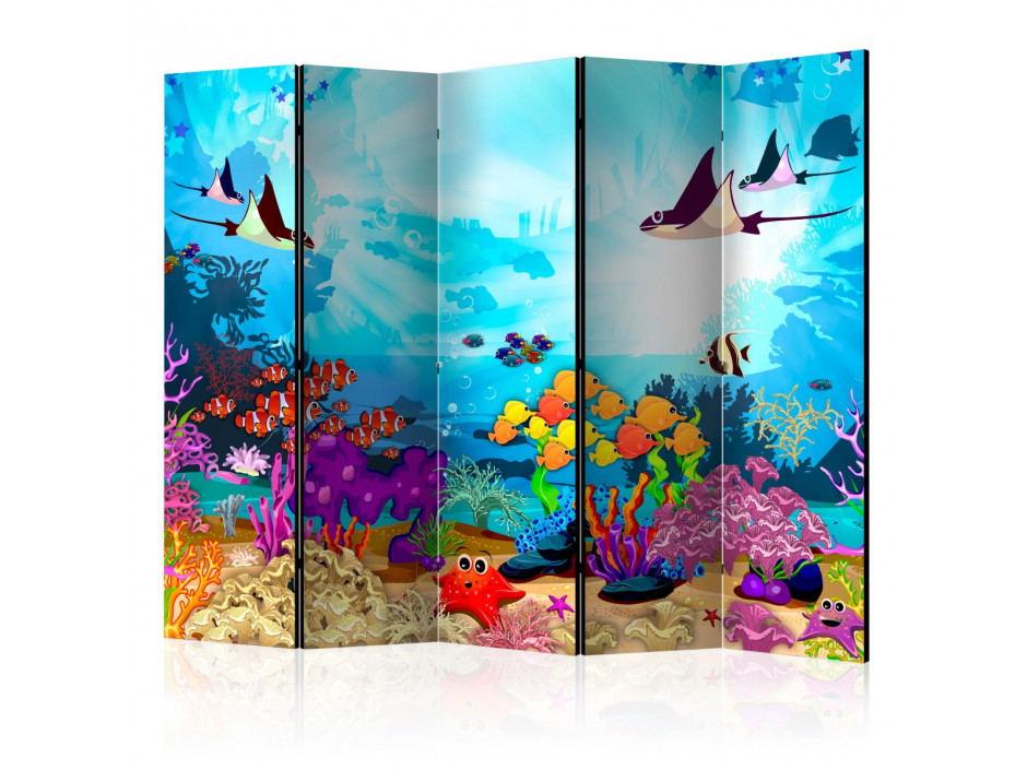 Paravent 5 volets  Colourful Fish II [Room Dividers]