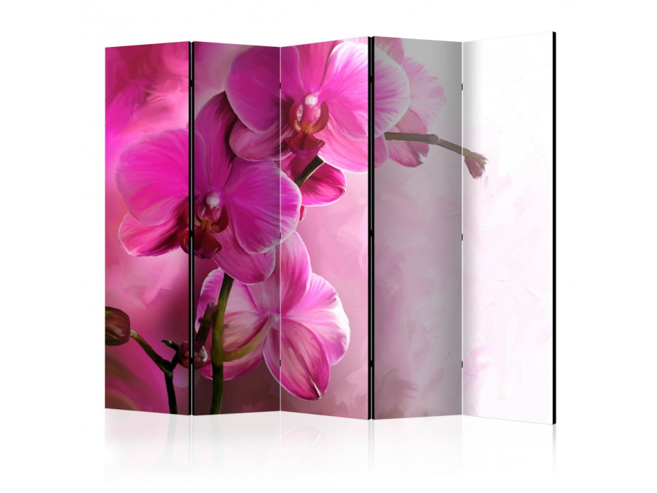 Paravent 5 volets  Pink Orchid II [Room Dividers]
