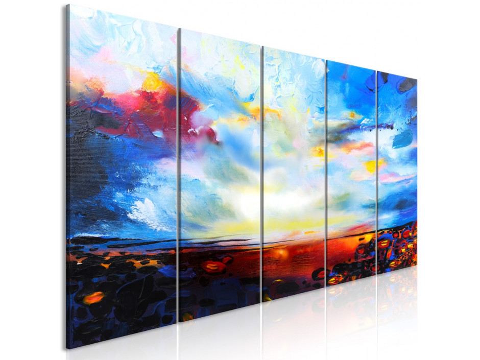 Tableau  Colourful Sky (5 Parts) Narrow