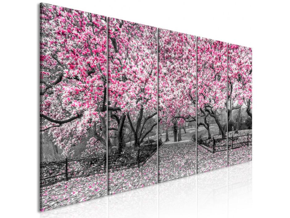 Tableau - Magnolia Park (5 Parts) Narrow Pink