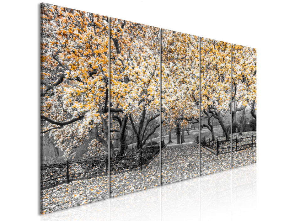Tableau - Magnolia Park (5 Parts) Narrow Orange