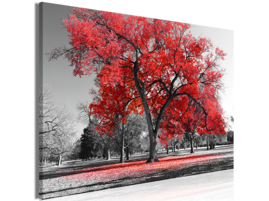 Tableau  Autumn in the Park (1 Part) Wide Red