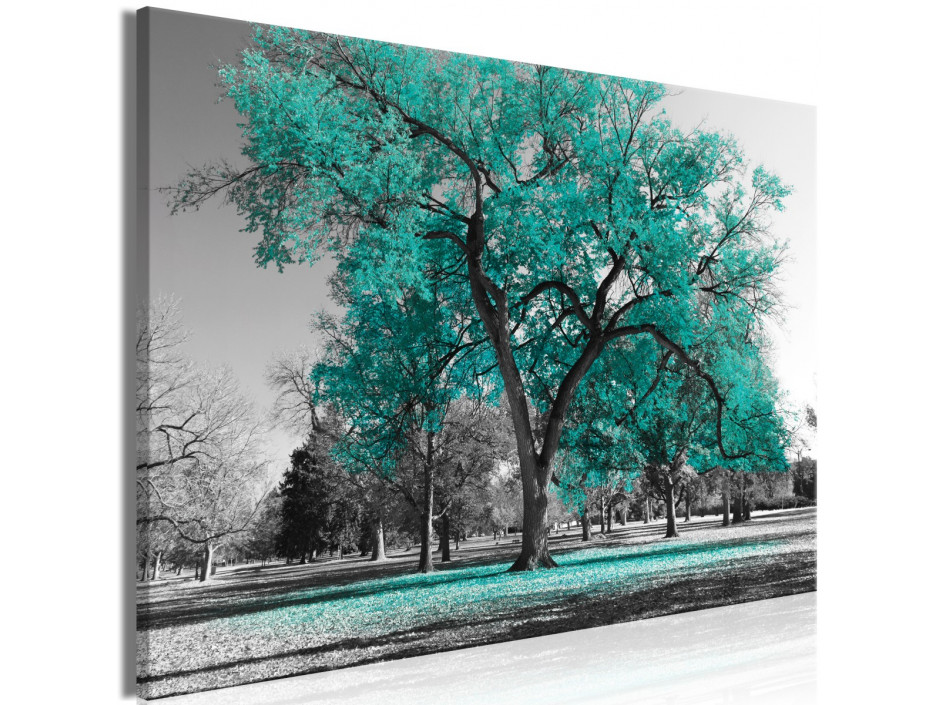 Tableau  Autumn in the Park (1 Part) Wide Turquoise