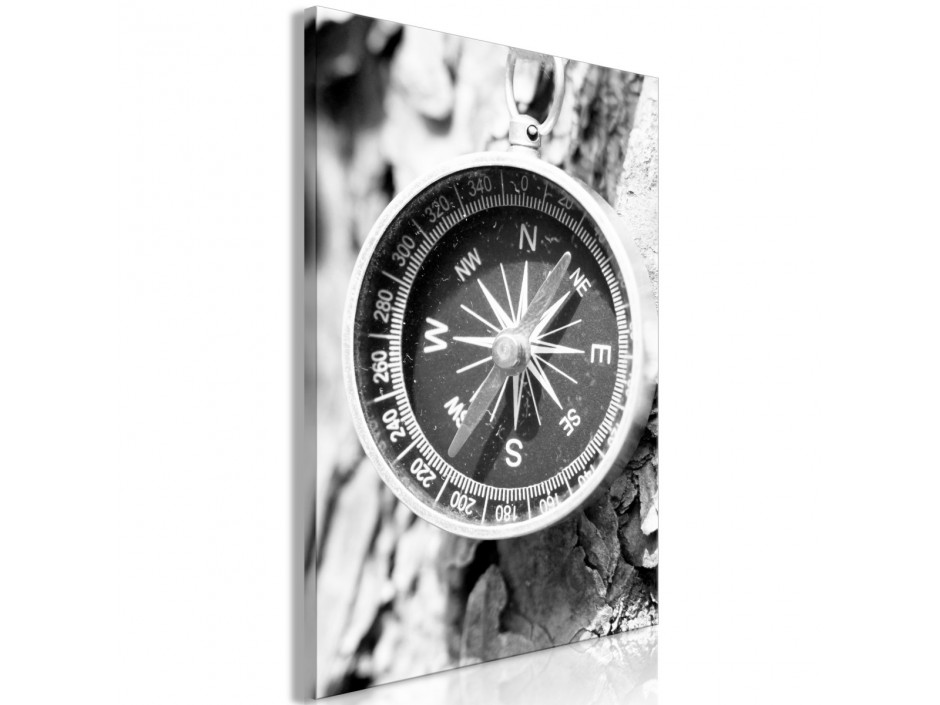 Tableau  Black and White Compass (1 Part) Vertical