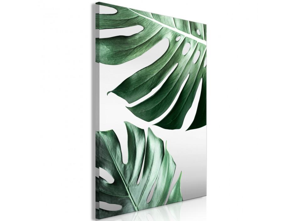 Tableau  Monstera Leaves (1 Part) Vertical