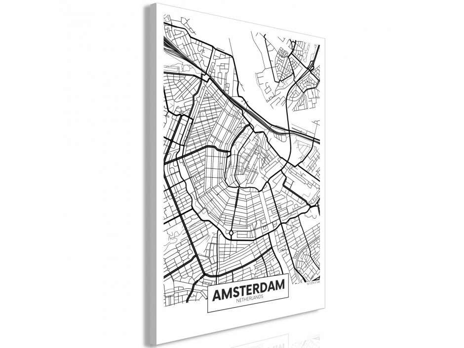 Tableau  Map of Amsterdam (1 Part) Vertical