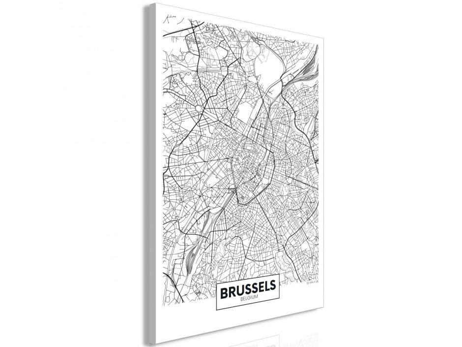 Tableau  Map of Brussels (1 Part) Vertical