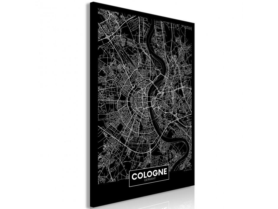 Tableau  Dark Map of Cologne (1 Part) Vertical