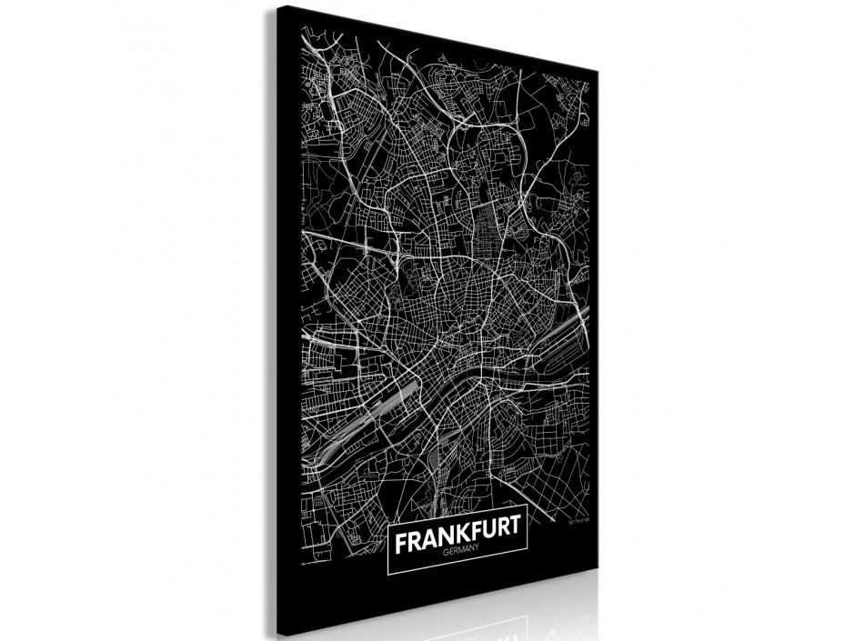 Tableau  Dark Map of Frankfurt (1 Part) Vertical