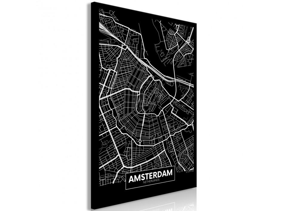 Tableau  Dark Map of Amsterdam (1 Part) Vertical