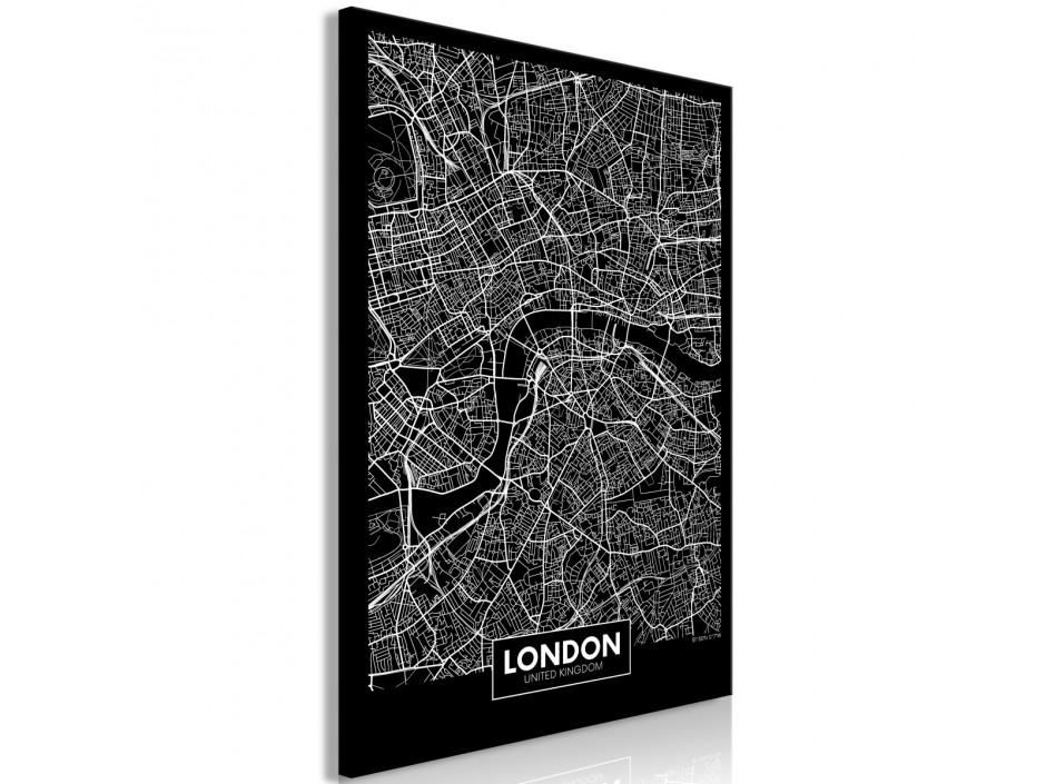 Tableau  Dark Map of London (1 Part) Vertical