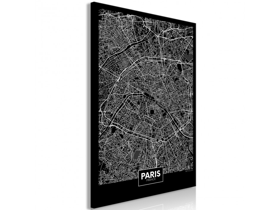 Tableau  Dark Map of Paris (1 Part) Vertical