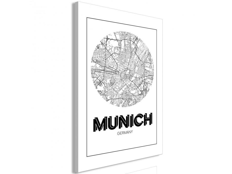 Tableau  Retro Munich (1 Part) Vertical