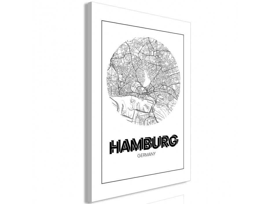 Tableau  Retro Hamburg (1 Part) Vertical