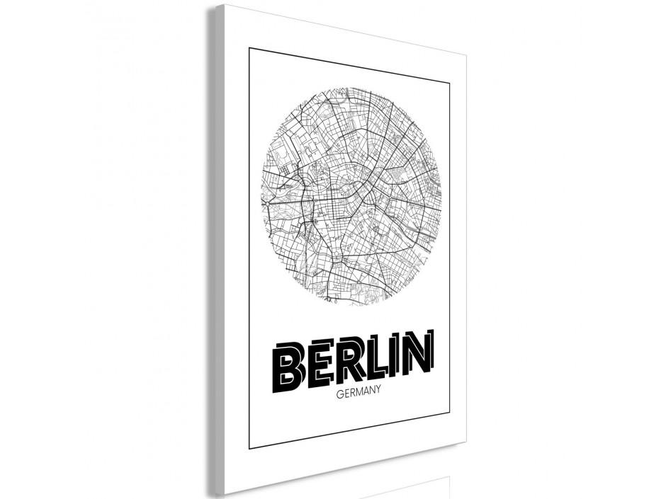 Tableau  Retro Berlin (1 Part) Vertical