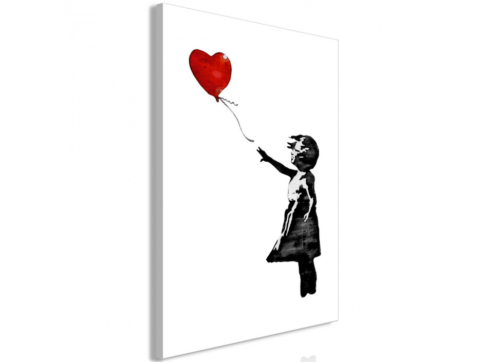Tableau  Banksy Girl with Balloon (1 Part) Vertical