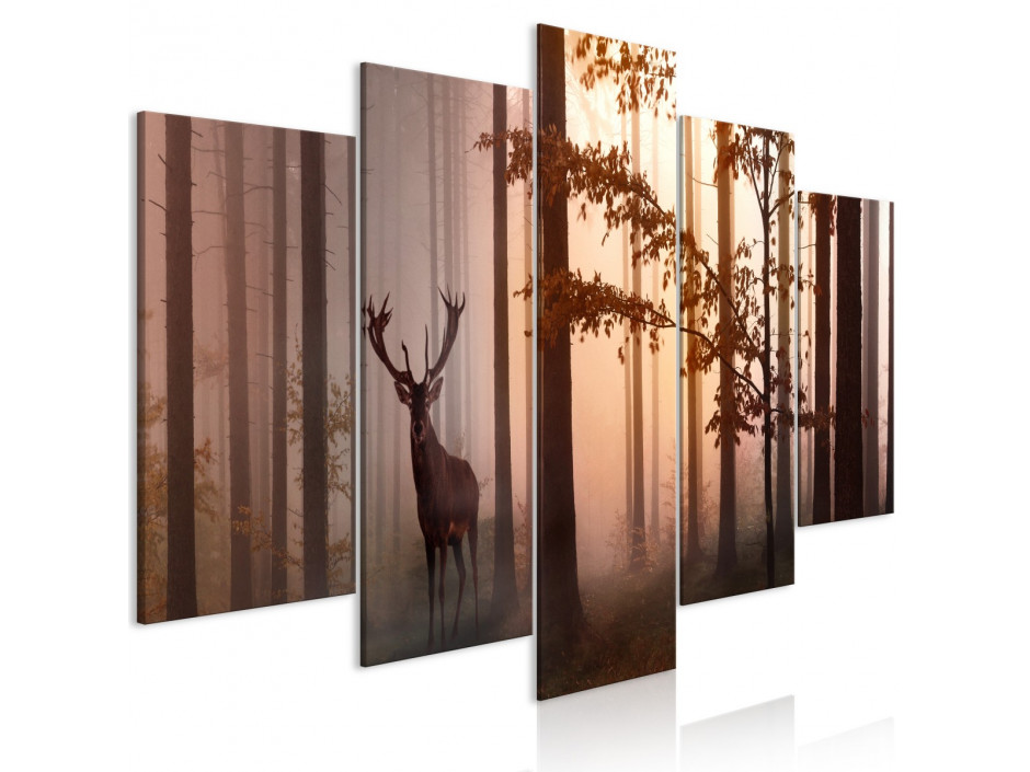 Tableau  Morning (5 Parts) Wide Brown