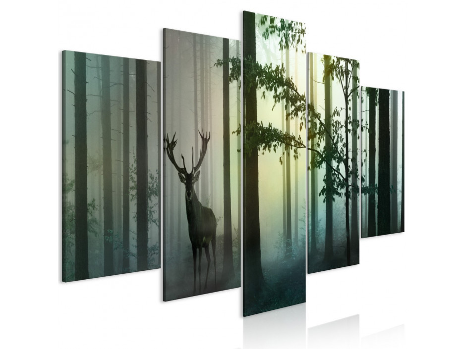 Tableau  Morning (5 Parts) Wide Green