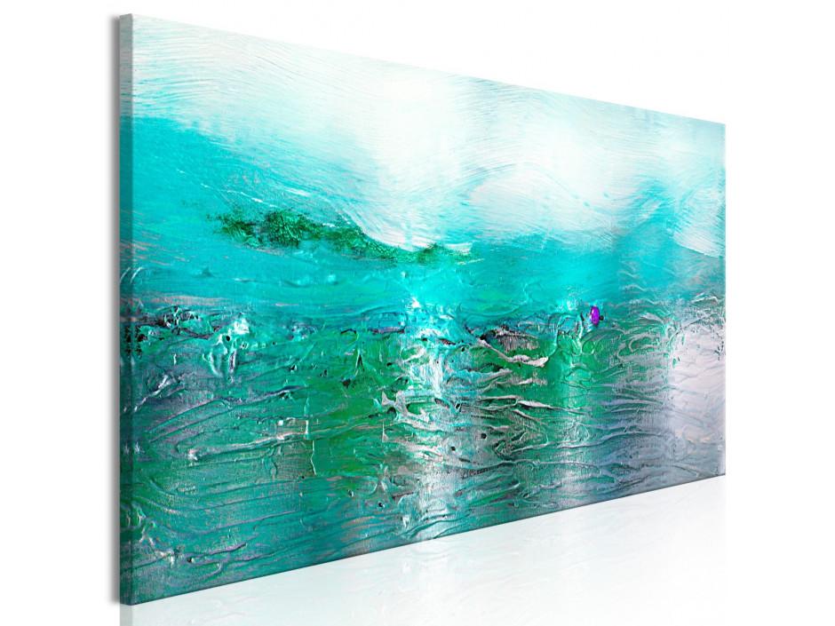 Tableau  Turquoise Landscape (1 Part) Narrow