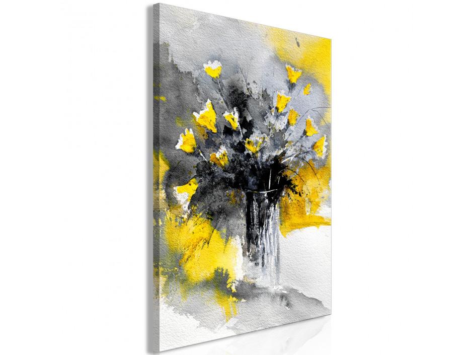 Tableau  Bouquet of Colours (1 Part) Vertical Yellow