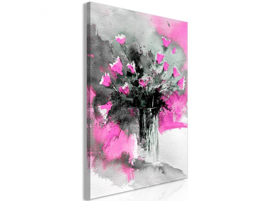 Tableau  Bouquet of Colours (1 Part) Vertical Pink