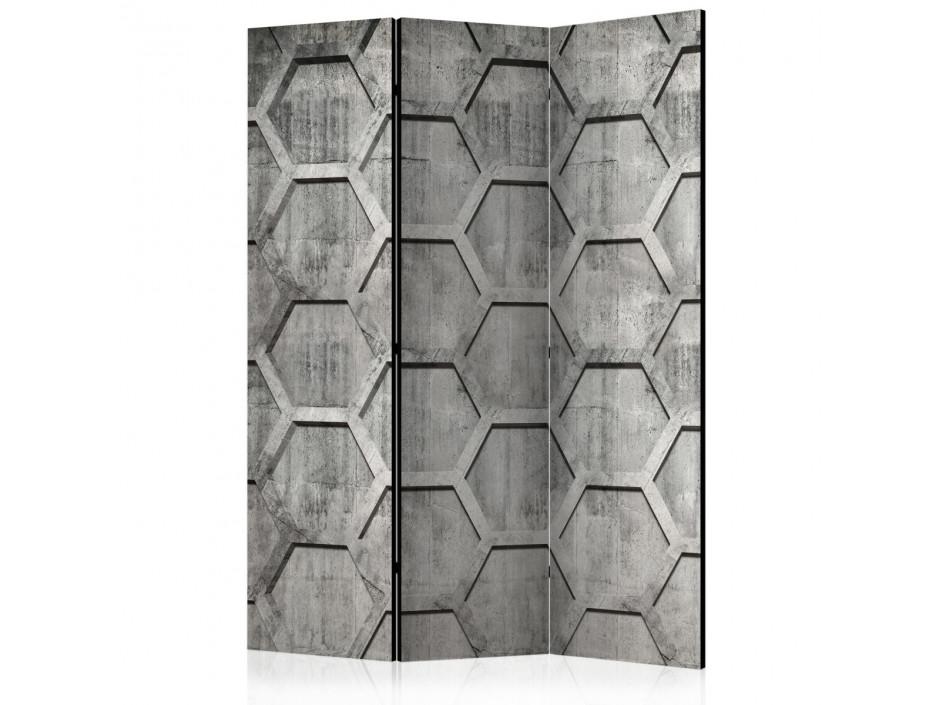 Paravent 3 volets  Platinum cubes [Room Dividers]