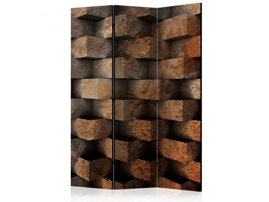 Paravent 3 volets  Brick  braid  [Room Dividers]