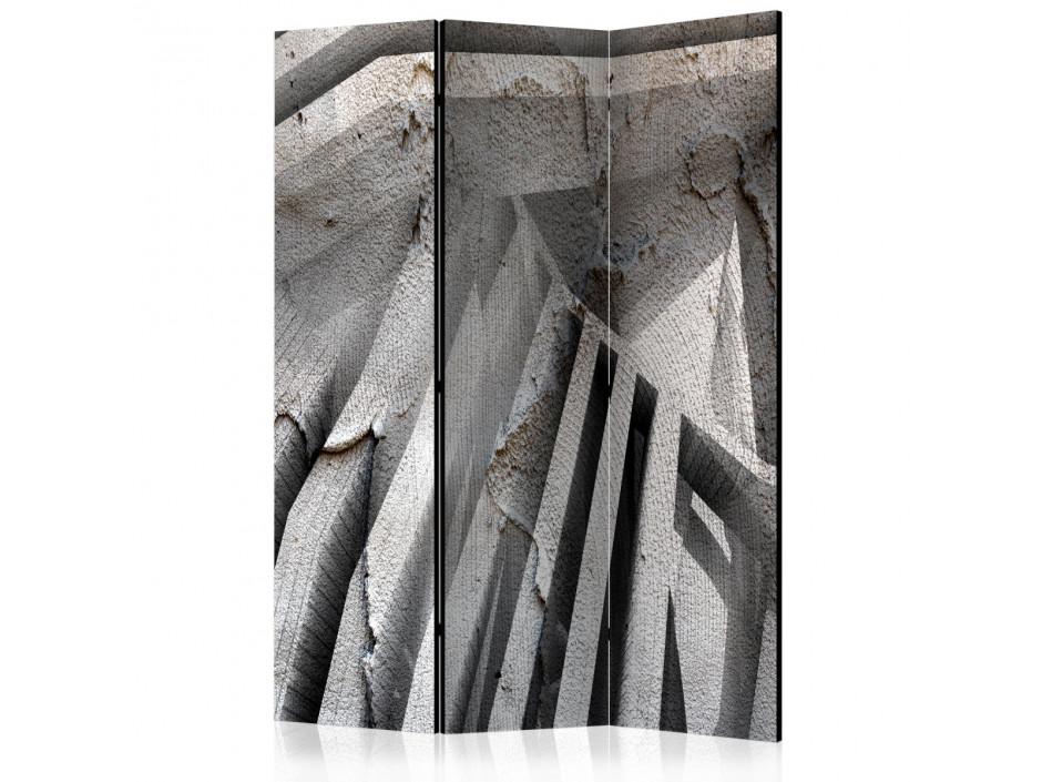 Paravent 3 volets  Beton 3D [Room Dividers]
