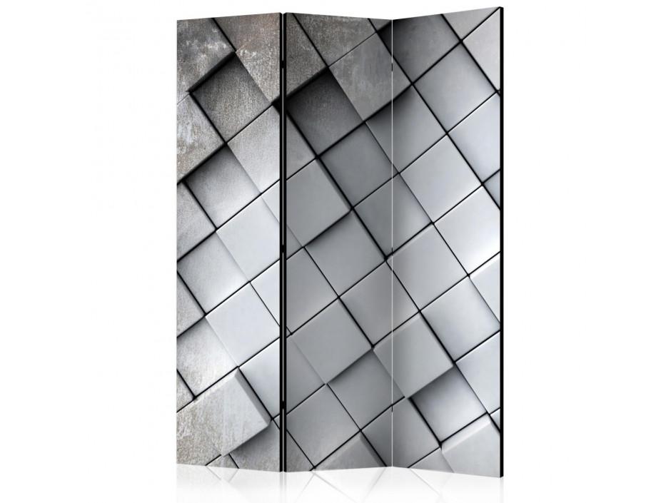 Paravent 3 volets  Gray background 3D [Room Dividers]