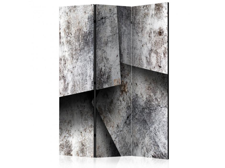Paravent 3 volets  Concrete cards [Room Dividers]