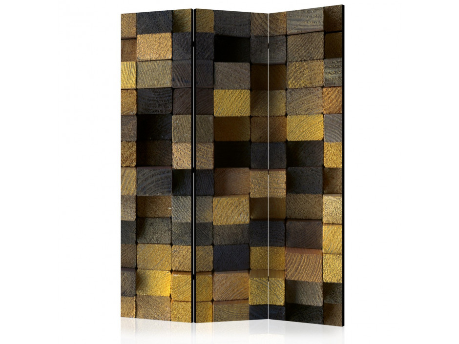 Paravent 3 volets  Wooden cubes [Room Dividers]