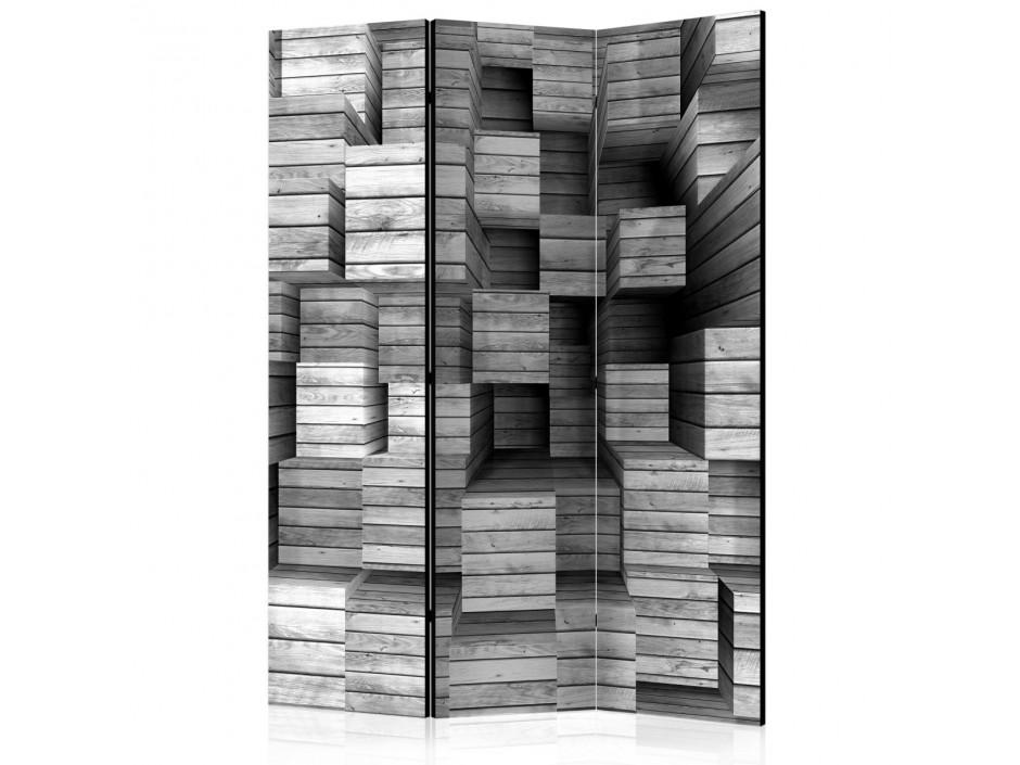 Paravent 3 volets  Grey Precision [Room Dividers]