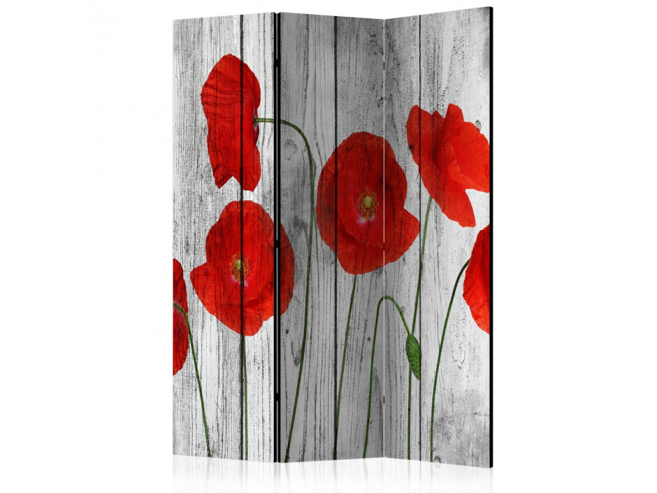 Paravent 3 volets  Tale of Red Poppies [Room Dividers]