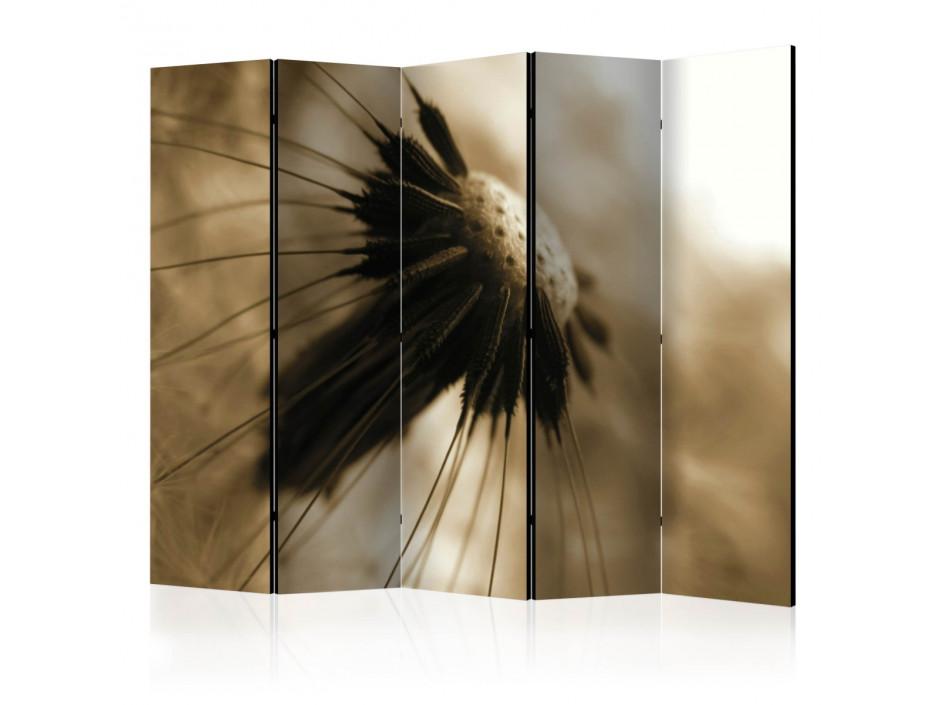 Paravent 5 volets  dandelion  sepia II [Room Dividers]
