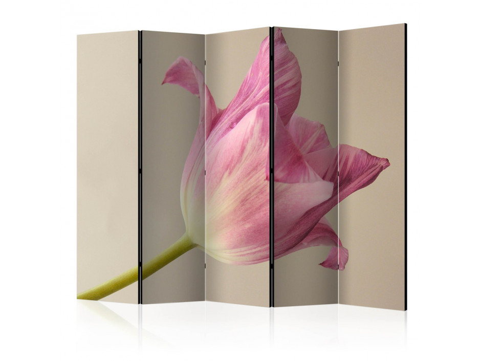 Paravent 5 volets  Pink tulip II [Room Dividers]