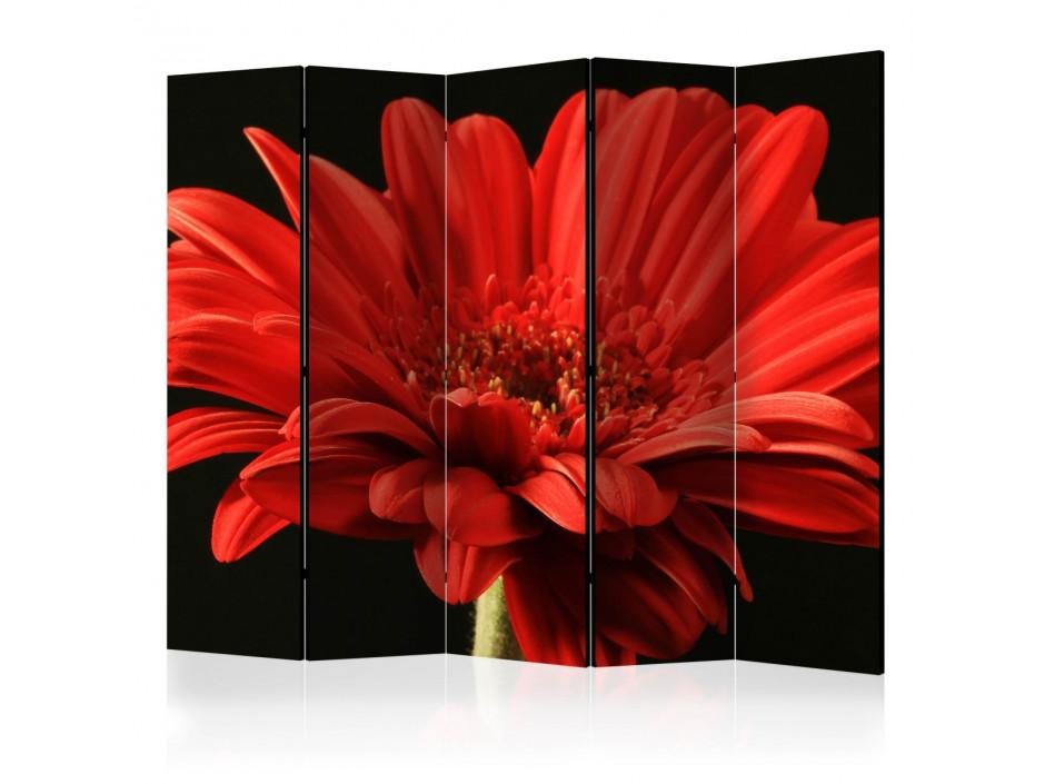 Paravent 5 volets  Red gerbera flower II [Room Dividers]