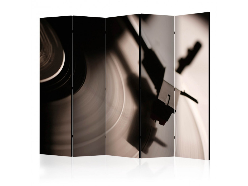 Paravent 5 volets  Gramophone and vinyl record II [Room Dividers]