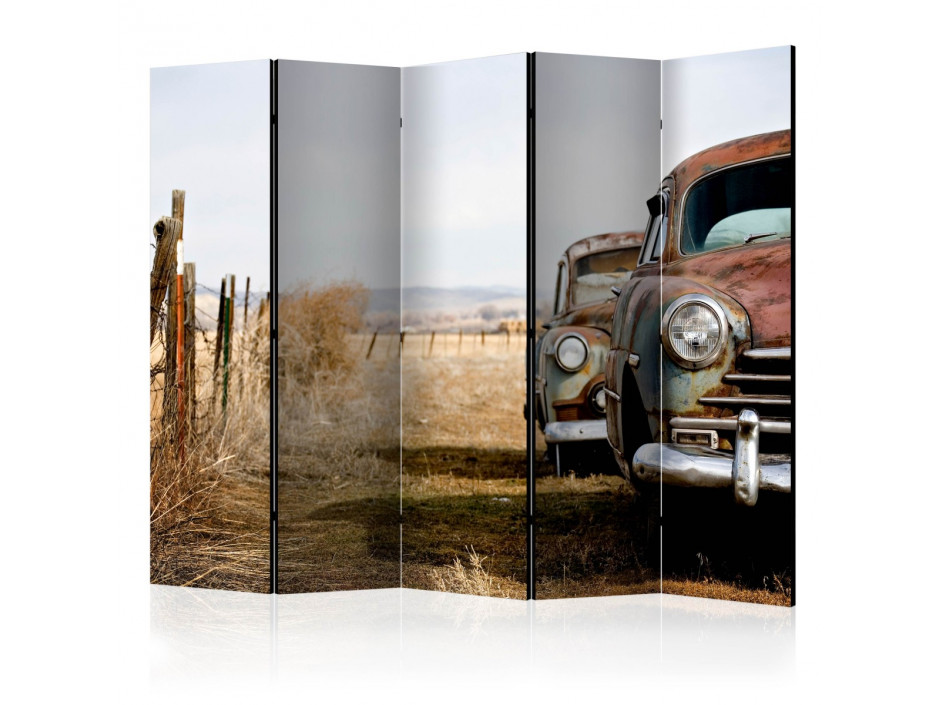 Paravent 5 volets  Two old, American cars II [Room Dividers]