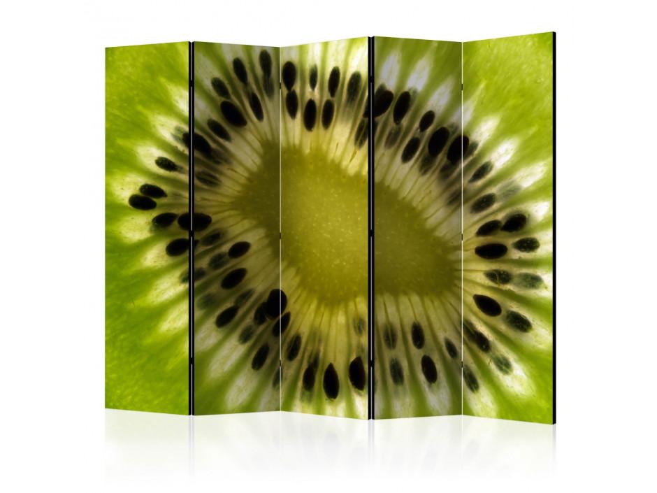 Paravent 5 volets  fruits kiwi II [Room Dividers]