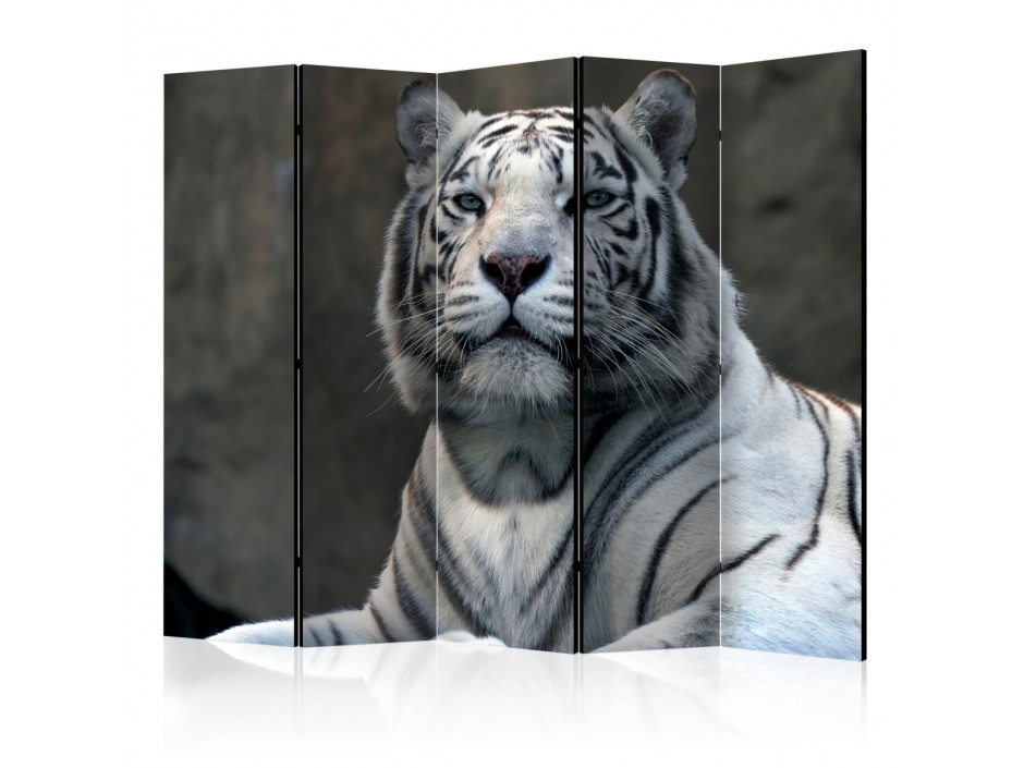 Paravent 5 volets  Bengali tiger in zoo II [Room Dividers]