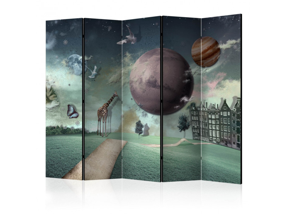 Paravent 5 volets  City of the future II [Room Dividers]