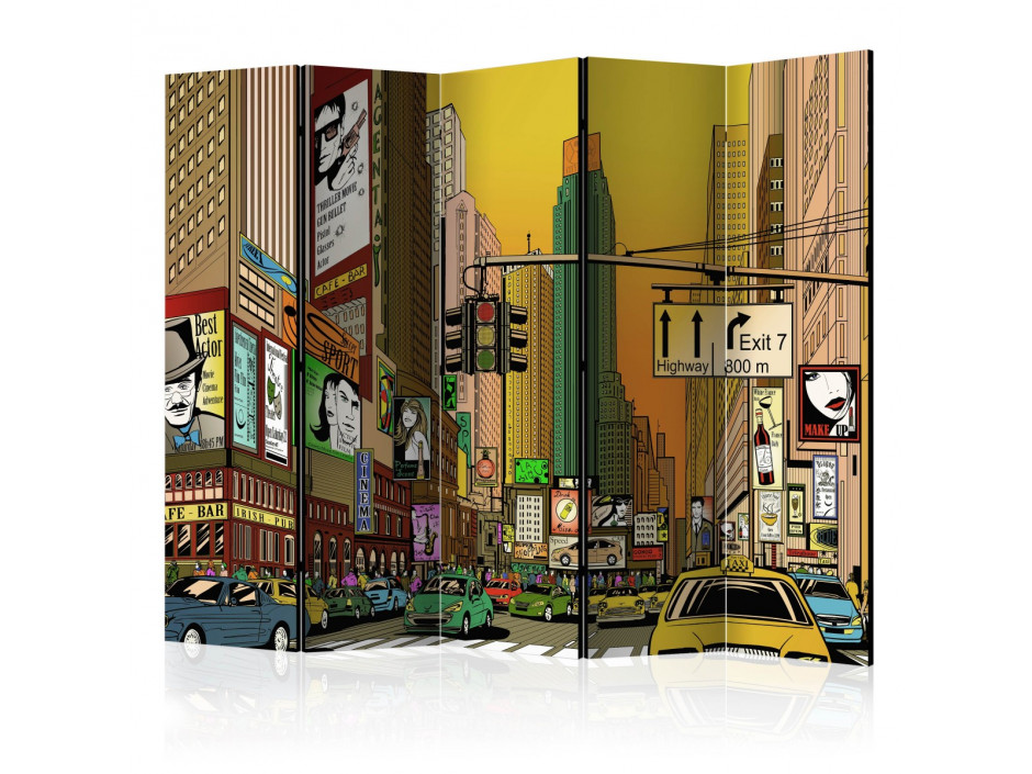 Paravent 5 volets  Vibrant city  NY II [Room Dividers]